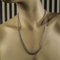 Vintage sølv halskæde i Bismarck mønster!
