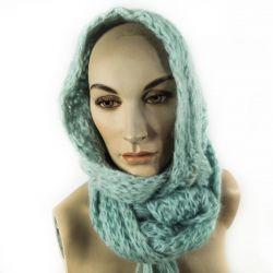 Vintage uldtørklæde/hue i fin lyseblå farve fra Vagn