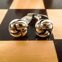 Vintage knude-manchetter fra Bernhard Hertz i forgyldt sterling sølv.