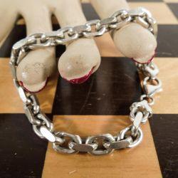 Vintage armlænke (ankerkæde) i sterling sølv.