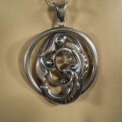 Vintage sølv vedhæng i kæde fra Eiler & Marløe