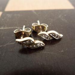 vintage guld ørestikkere med zirkoner