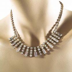 Vintage rhinstens halskæde