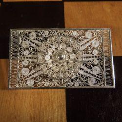 Vintage broche i sølv & filigran fra Laurits Berth