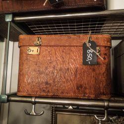 Super lækker vintage beautybox, delvist i kerne-læder.