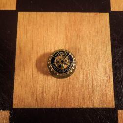 Vintage Rotary emblem fra A. Rasmussen i guld!