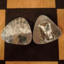 Vintage N.E. From øreclips i hammerslået sterling sølv!