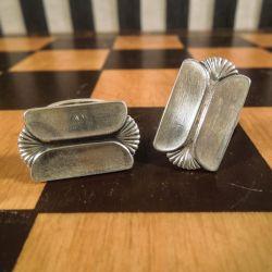 Antikke - og smukke danske sølv manchetter. Æske medfølger!