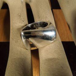 Vintage Georg Jensen sølv ring designet af Henning Koppel