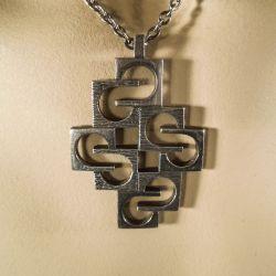 Vintage modernist halssmykke i sterling sølv fra Knud V Andersen!