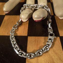Sød klassisk armlænke i sterling sølv. Længde: 20 cm.