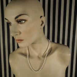 Vintage perle halskæde med Akoya-perler