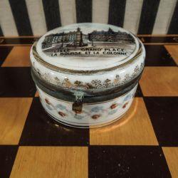 Fransk vintage souvenir skrin i porcelæn