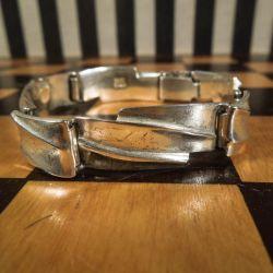 Vintage Lapponia brutalist armlænke i sterling sølv!
