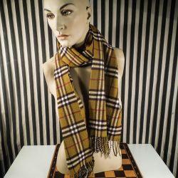 Vintage Burberry cashmere tørklæde!