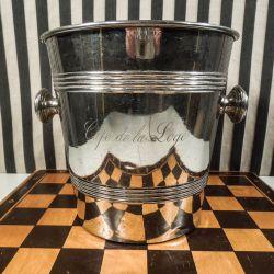 Vintage forsølvet champagnekøler fra Cafe de la Loge i Paris!