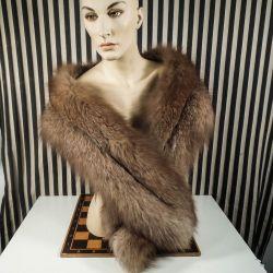 Vintage pels stola af polar-ræv fra Magasins Buntmageri.