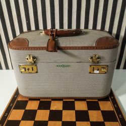 Deluxe vintage Beautybox med skuffe & aftageligt spejl.