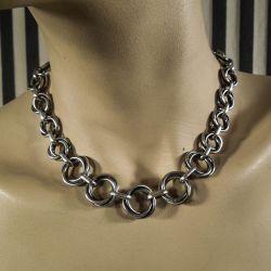 Vintage designer halskæde i sterling sølv fra Wollny