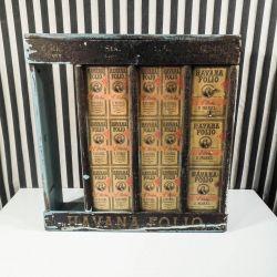 Gammel tobaks reklame display i træ fra Havana Folio