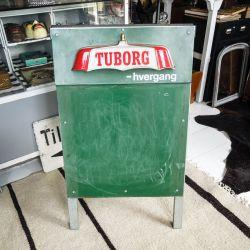 Vintage Tuborg menu skilt! Dobbelt-sidet!