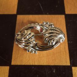 Designer vintage broche i forgyldt sølv fra Brødrene Nielsen!
