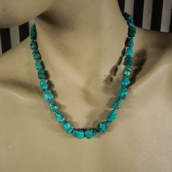 Vintage halskæde med ægte turkis sten fra Poul Erik Fenster!
