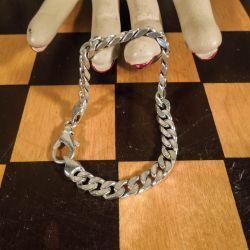 Lækker tung vintage armlænke fra Lund i sterling-sølv til kvinde
