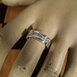 Sølv ring med zirkonia