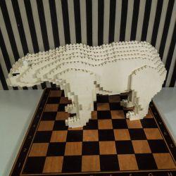 Stor, dekorativ vintage LEGO isbjørn! Bemærk øre!!!