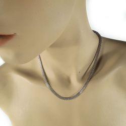 Vintage italiensk design halskæde af sterling sølv!