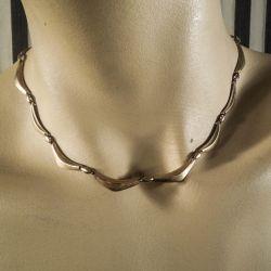 Vintage designer hals-collier fra Herman Siersbøl i guld!