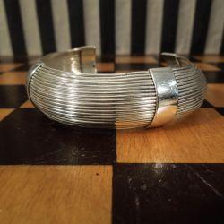 Vintage designer armring i sterling sølv!