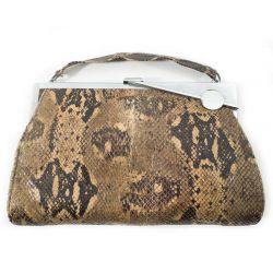 Art deco taske i pytonskind med DET fineste lukketøj