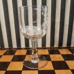 """Antik Erindrings-glas fra Kastrup Glasværk"""" Til Moder"""""""