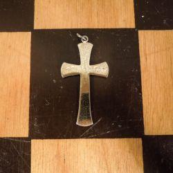 Fineste vintage kors-vedhæng af forgyldt sølv!