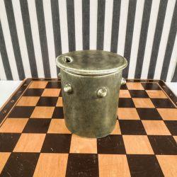 Vintage marmelade krukke fra C. U. Bertelsen i mosgrønt glaseret keramik!