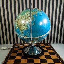 Super lækker vintage globus med lys i, i fineste stand!