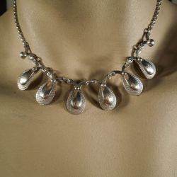 Vintage halskæde i sterling sølv fra Herman Siersbøl