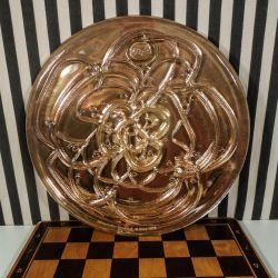 Kæmpe stor vintage glas platte fra Rosenthal