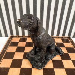 Bronze figur af jagthund med de fineste detaljer!