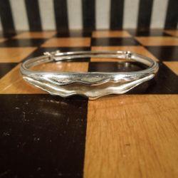 Super lækker vintage armring i sterling sølv fra Siersbøl!