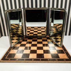 Vintage trefløjede, luksus barbér/teater spejl