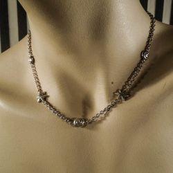 Lækker vintage halskæde i sterling sølv!