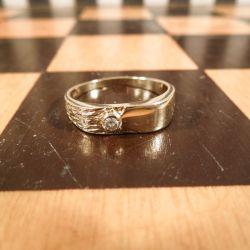 Vintage designer dame-ring i 14 karat guld!