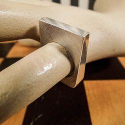 Helt firkantet vintage designer finger-ring i sterling sølv!