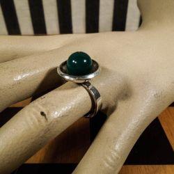 Smukkeste vintage N.E.From ring med chrysopras!