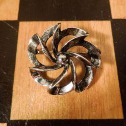 Smukkeste, vintage N.E. From Broche i sterling sølv!