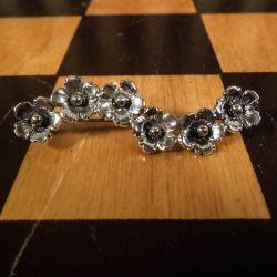 Smukkeste, vintage blomster-ranke broche i sterling sølv fra N.E.From!