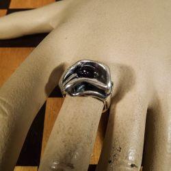 Lækreste, vintage ring fra From i sterling sølv med ametyst.